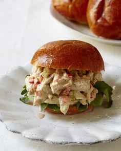 Crab Salad Sandwich with Old Bay Dressing - Giadzy Giada food Network Sandwich Recipes, Fish Recipes, Seafood Recipes, Crab Rolls Sandwich, Crab Salad Sandwich Recipe, Best Crab Salad Recipe, Blue Crab Recipes, Sandwich Ideas, Easy Salad Recipes