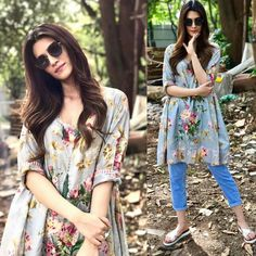 10 Designer Kurtis with Jeans For Women Fashion Designer, Indian Designer Outfits, Indian Outfits, Indian Gowns, Indian Wear, Stylish Dress Designs, Stylish Dresses, Designer Kurtis, Long Kurti With Jeans