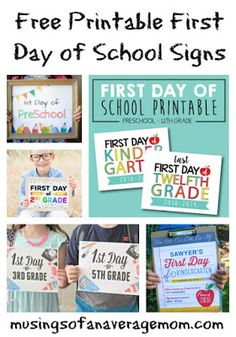20 free printable First Day of School Signs to capture your child's special moment