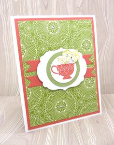 A Cup of Thanks card with the Tea Shoppe Stampin' Up! stamp set and dies & punches.