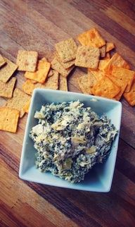 Undressed Skeleton  Healthy Spinach  Artichoke Dip : Game Day Dip!