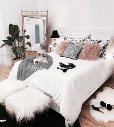 home, bedroom, and room image Home Bedroom, Bedroom Decor, Glam Bedroom, Bedroom Ideas, Feminine Bedroom, Suites, Dream Rooms, My New Room, House Rooms