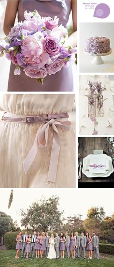 Violet wedding Just Be The Bride onto Pantone's 2013 Spring Colors