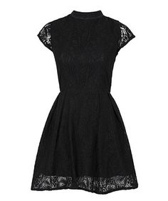 Another great find on #zulily! Black Lace Nichole Mock Neck Dress by Louche #zulilyfinds