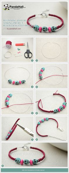 Beginning Jewelry Making Project – Beaded Knotted Bracelet from pandahall.com