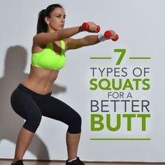 Who doesn't want a better booty?  Here are 7 Types of Squats for a Better Butt!  #squats #buttworkouts #workouts