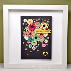 beautiful! buttons mixed with flowers