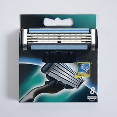 8 unids/lote Calidad Grado A + + de los hombres de afeitar cuchillas de afeitar cuchilla de afeitar para hombres Estándar de RU y Euro y EE. UU.