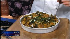 Kale is in! Try it in this Butternut squash, chevre & kale bread pudding.
