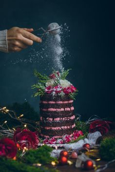 Chocolate and coffee cake with Raspberry Swiss Meringue Buttercream #desserts #chocolate