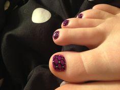 Toe nail designs.