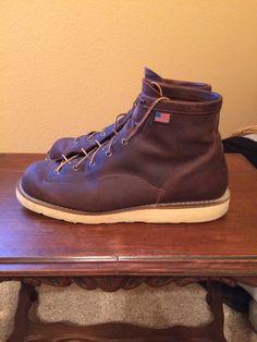 Danner Bull Run Moc Toe Work Boots Mens Size 11 D Brown