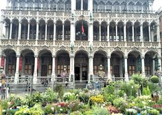 Brussels Grand Palace flower market