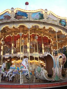 Carousels dot the parks of Paris