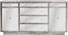 "Vanguard Furniture: P527D - Madison (Drawer Chest) 72""W x 20""D x 36""H Mirrored Credenza Dresser < use for bathroom vanity >"