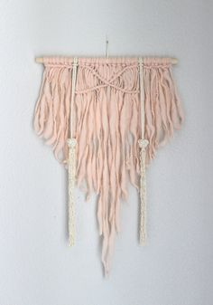 """Macrame Wall Hanging """"Spirited Away no.16"""" by HIMO ART, One of a kind Handcrafted Macrame/Rope art"""