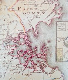 Map of Essex County from about 1775.