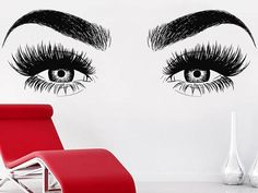 A wall decal, also known as a wall sticker, wall tattoo, or wall vinyl, is a vinyl sticker that is affixed to a wall or other smooth surface for decoration and informational purposes. Wall decals are Beauty Salon Decor, Beauty Bar, Beauty Salons, Salon Interior Design, Salon Design, Makeup Studio, Beauty Studio, Wall Sticker, Wall Decals