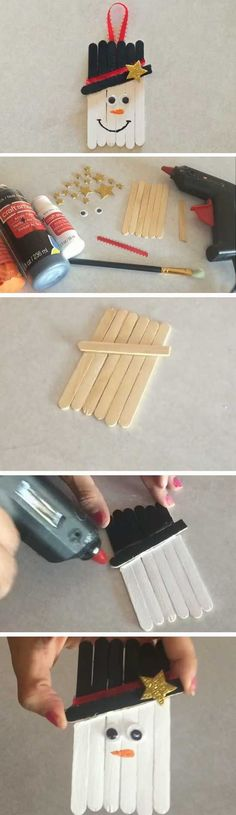 Frosty the Snowman | 16 DIY Christmas Popsicle Sticks Crafts for Kids