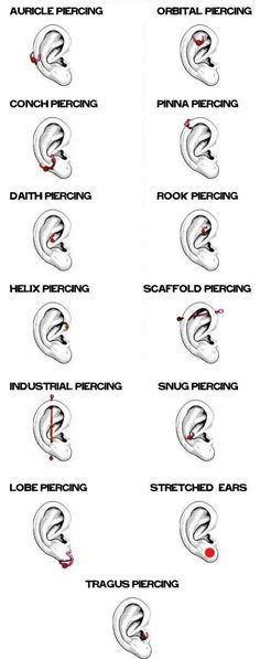 Whether it's a #diamond stud, dangly multi-piece, or a hoop #earring, the lobe is the most conservative #piercing for women.: