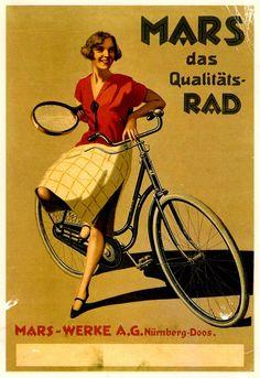 Mars #tennis #vintage #illustration  Posted on chicksandbikes.blogspot.pt