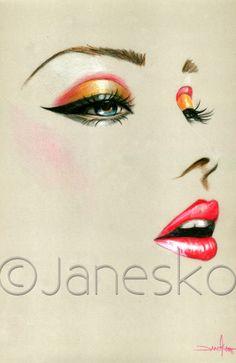 """Fierce"" study #art #illustration #pinup #face"