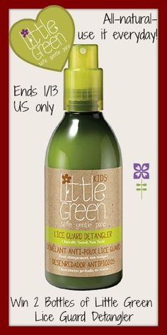 ****WIN Two (2) Bottles of Little Green Lice Guard Detangler**** - Krazy Coupon Club