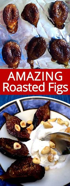 Roasted figs is my favorite recipe to make with fresh figs! When fresh figs are in season, I always buy them and make these! Roasted figs are so easy to make and taste amazing! Fig Recipes Healthy, Fruit Recipes, Dessert Recipes, Cooking Recipes, Recipes With Figs, Recipies, Dried Fig Recipes, Pancake Recipes, Crepe Recipes