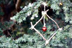 """Learn how to make this easy  Christmas ornament inspired by Julia Donaldson's book """"Stick Man.""""   Combining nature crafts and beloved books for the holidays is a great way to get creative and celebrate the book into our everyday life. Perfect for kids of all ages who love sticks & twigs!"""