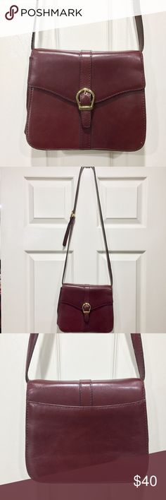 Etienne Aigner cordovan cross body Beautiful leather bag! Excellent used condition, vintage actually from the 70s but no flaws or scrapes or stains. Brass hardware. Price firm unless bundled, this bag is really special. :) Etienne Aigner Bags Crossbody Bags