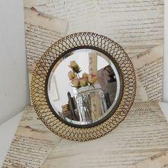 Vintage Spiegel - Vintage Spiegel ♥ Metallspiegel - ein Designerstück von LaVivaVintage bei DaWanda