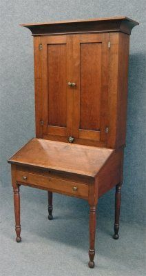 "19Th Century Cherry Plantation Desk, 73 3/4"" Tall X 23"""