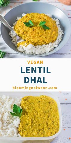 Easy and healthy coconut red lentil dhal ready in less than 30 minutes! Vegan, GF, Oil-Free and delicious! Easy and healthy coconut red lentil dhal ready in less than 30 minutes! Vegan, GF, Oil-Free and delicious! Curry Recipes, Veggie Recipes, Whole Food Recipes, Vegetarian Recipes, Cooking Recipes, Red Lentil Recipes, Vegan Indian Recipes, Recipes For Lentils, Indian Vegetable Recipes