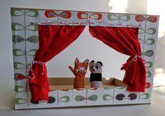 Zelf een poppenkast maken van een brievenbusdoosje / DIY puppet theatre