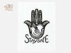 Inspiring Original Visual Art by PeaceFullByEleyOri Art Quotes, Inspirational Quotes, Hand Of Fatima, Hamsa Hand, Stay Safe, Evil Eye, Fertility, Abundance, Religion