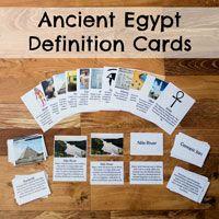 Ancient Egypt Definition Cards via @researchparent