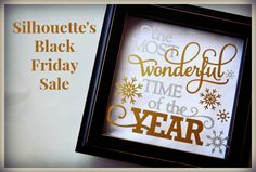Silhouette's Black Friday Sale! All supplies are 40% off Bundled machines discounted 40% off or more!