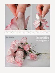 Ett trevligt pyssel är att göra rosor av vita kaffefilter . Rosorna blir väldigt naturtrogna när man målar dem. Börja med att klippa ut k...