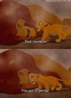 And these final moments of Mufasa's life in The Lion King… Sad Disney, Disney Love, Disney Magic, Disney Stars, Try Not To Cry, Make You Cry, Hakuna Matata, Disney And Dreamworks, Disney Pixar