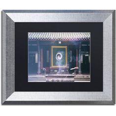 Trademark Fine Art Yin Yang Canvas Art by Philippe Hugonnard, Black Matte, Silver Frame, Assorted