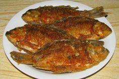Karasi fried in oil