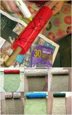 40 Borderline Genius Glue Gun Projects That Will Enchant Your Life - DIY & Crafts Glue Gun Projects, Glue Gun Crafts, Clay Projects, Glue Art, Diy Art, Stencils, Diy And Crafts, Decoupage, Stamps