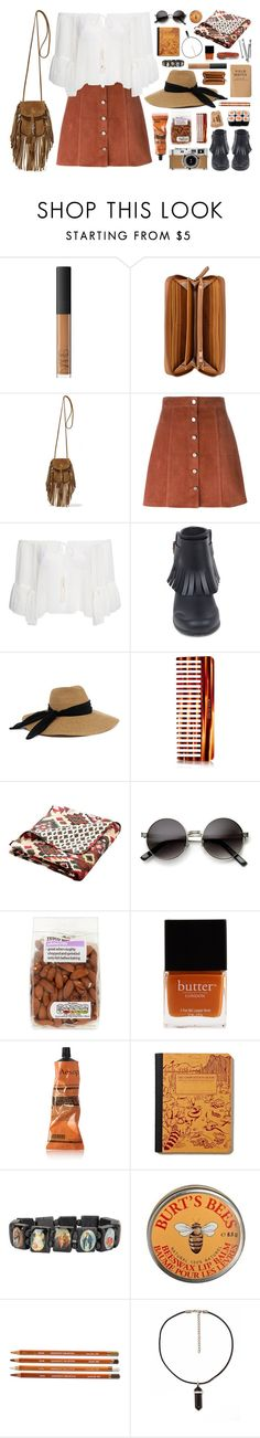 """""""festival fringe"""" by rosemarykate ❤ liked on Polyvore featuring NARS Cosmetics, Nine West, Yves Saint Laurent, Theory, NLY Trend, Burberry, Eugenia Kim, Mason Pearson, Greenland Home Fashions and Butter London"""