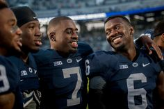 Description of . Penn State Nittany Lions safety Malik Golden (6) sings the alma mater with other players after a 48-7 win at Beaver Stadium in State College, Pa., on Saturday, Sept. 20, 2014. Jeff Lautenberger — For The York Daily Record/Sunday News