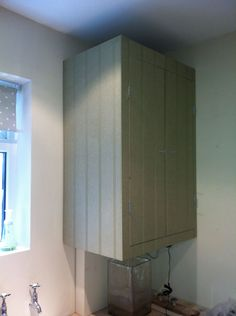 hand painted kitchen in bristol boiler cupboard with. Black Bedroom Furniture Sets. Home Design Ideas