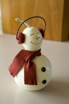 Meadowbrooke Gourds - Frosty Snowman Decoration