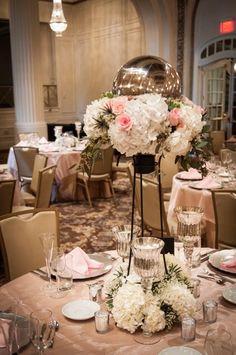 Florals by HyVee Silvis, Illinois. Gold Room at Hotel Blackhawk in Davenport, IA    www.hotelblackhawk.com and www.bixbistro.com