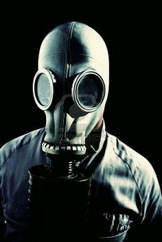 As Air Raid Sirens Pierce The Silence Of Twilight, A Masked Militant Stares Into The Death Blackness, Just Before The Fall by Ryan Jorgensen Gas Mask Art, Masks Art, Gas Masks, Gas Mask Tattoo, Canvas Art, Canvas Prints, Fall Canvas, Before The Fall, Art Graphique
