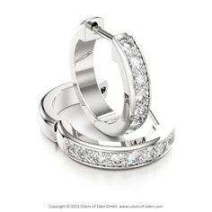 Diamond Hoop Earrings #diamond #earrings