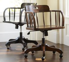 Office chairs.  These remind me a bit of my daddy's old desk chair...